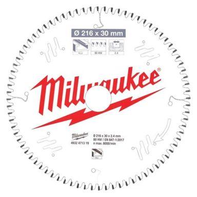 Milwaukee CSB MS Alu Sågklinga 216x2,4x30 mm, 80T