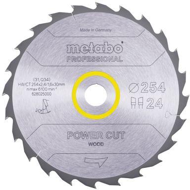 Metabo 628025000 Sågklinga 254x30 mm 24T