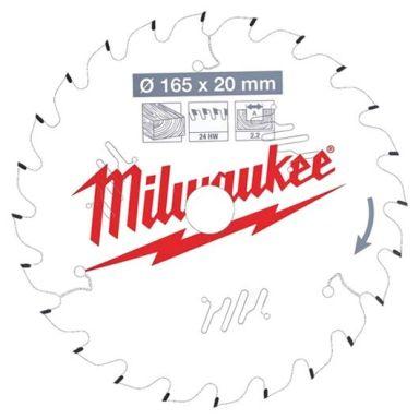 Milwaukee CSB P W Sågklinga 165x2,2x20 mm, 24T