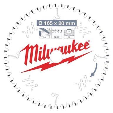 Milwaukee CSB P Alu Sagklinge 165x2,2x20 mm, 52T