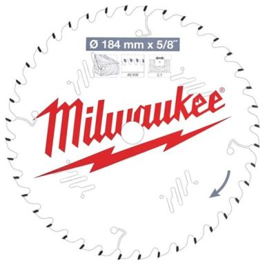 Milwaukee CSB P W Sagklinge 184x2,1x15,87 mm, 40T