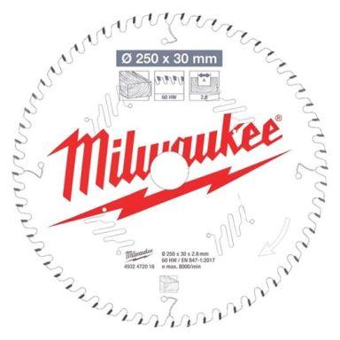 Milwaukee CSB MS W Sagklinge 250x2,8x30 mm, 60T