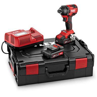 Flex ID 1/4 18.0-EC Set Slagskruvdragare med batterier och laddare