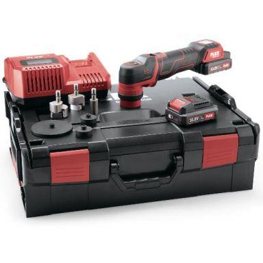 Flex PXE80 10.8-EC Set Polermaskin med batterier, laddare och tillbehör