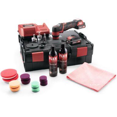 Flex PXE80 10.8-EC P-Set Polermaskin med batterier, laddare och tillbehör