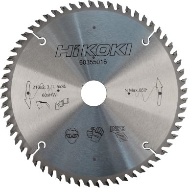 HiKOKI 60355016 Sågklinga 216x2,3 60T