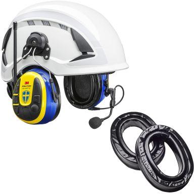 3M Peltor WS Alert XPI Sverigekåpan Hörselskydd med Bluetooth och mobilapplikation, hjälmfäste