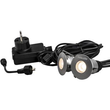 Hide-a-Lite Decklight Super Garden Kit LED-armatursset 3000K, 2x75 lm