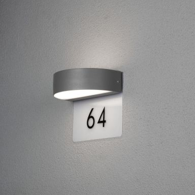Konstsmide Monza Väggarmatur 5 W, med husnummer