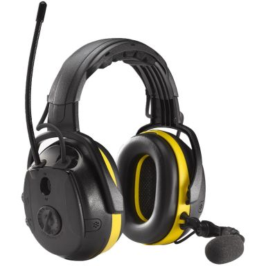 Hellberg Synergy Hørselvern Bluetooth, medhøring og hodebøyle