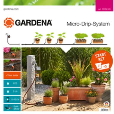 Gardena Micro-Drip-System Aloitussarja M, kukkaruukuille, automaattinen
