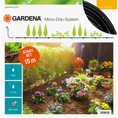 Gardena Micro-Drip-System Startpakke for beplantede flater