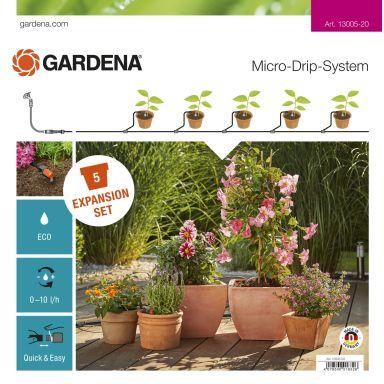 Gardena Micro-Drip-System Påbyggingspakke for blomsterpotter