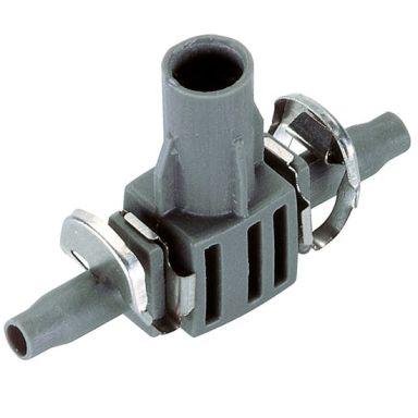 Gardena Micro-Drip-System T-liitäntä 4,6 mm, mukana suihkusuuttimen kiinnike, 5 kappaleen pakkaus