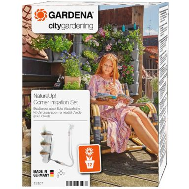 Gardena NatureUp! Vanningssett til vertikal planteholder, hjørne