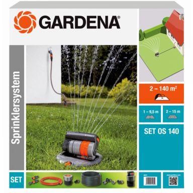 Gardena OS 140 Rektangulærspreder med tilbehør
