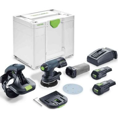 Festool ES-ETSC 125 3,1 I-Plus Kantslip med batterier och laddare