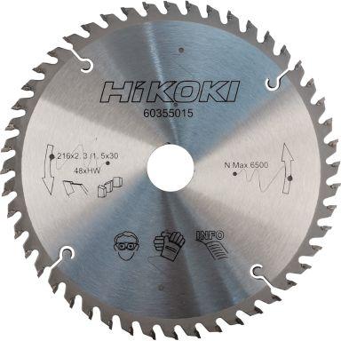 HiKOKI 60355027 Sagklinge TCT 216 mm, 48 T, 10-pakning