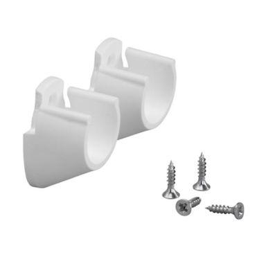 Elfa 624510 Klädstångshållare vit, 2-pack