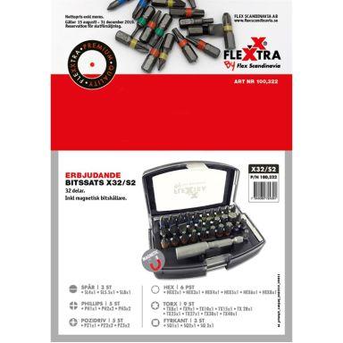 Flexxtra 100322 Bitssats 32 delar