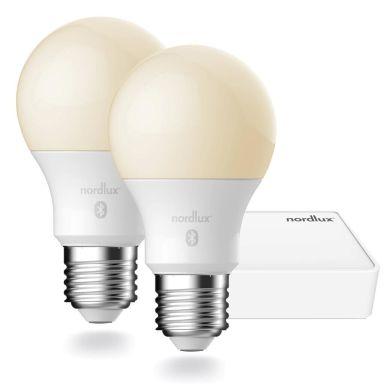 Nordlux SMARTLIGHT 2070062701 Glödlampspaket smart, 2x E27 SMD 900, med brygga