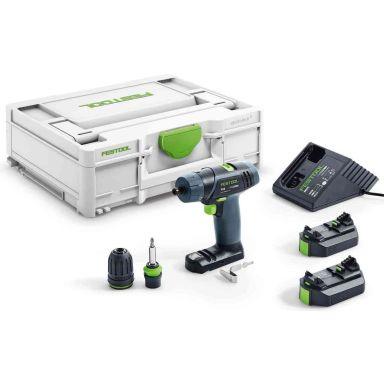 Festool TXS 2,6-Plus Skruvdragare med batterier och laddare
