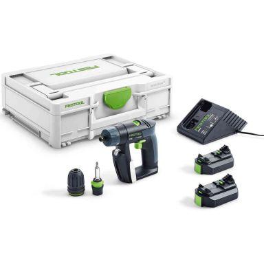 Festool CXS 2,6-Plus Skruvdragare med batterier och laddare
