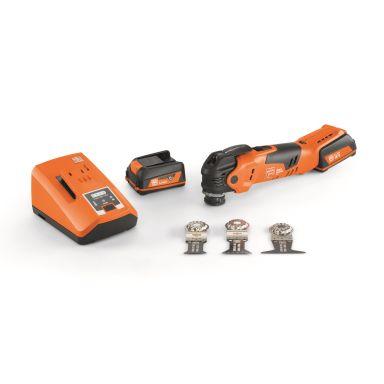 Fein MultiMaster AMM 300 Plus Start Multiverktyg med batterier, laddare och tillbehör