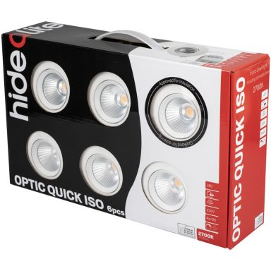 Hide-a-Lite Optic Quick ISO Downlight vit, 6-pack