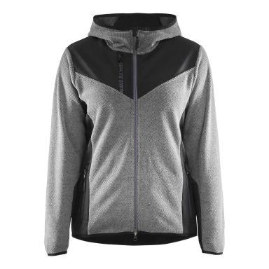 Blåkläder 594125369099XS Jacka stickad, dam, gråmelerad/svart