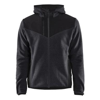 Blåkläder 594025369799L Jacka stickad, med softshell, antracitgrå/svart