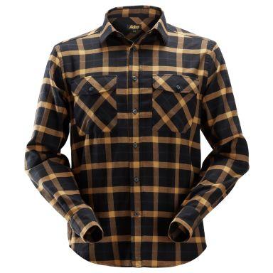 Snickers 8516 AllroundWork Flanellskjorta svart/brun