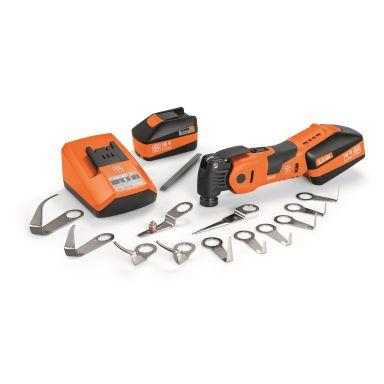 Fein MultiMaster AMM 700 1.7 Q Bilglas Multiverktyg med batterier, laddare och tillbehör