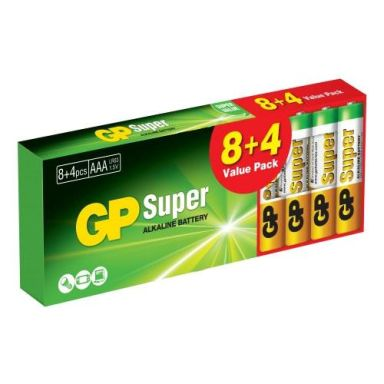 GP Batteries Super Alkaline Alkaliska batterier AAA, 12-pack