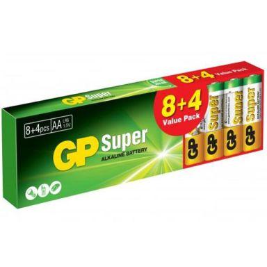 GP Batteries Super Alkaline Alkaliska batterier AA, 12-pack