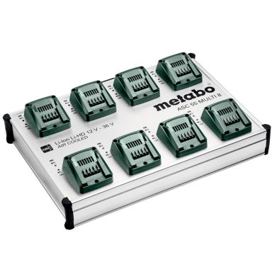 Metabo ASC 55 MULTI 8 Hurtiglader for batterispenning 12–36 V