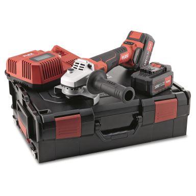 Flex LBE125 18.0-EC Vinkelslip med batteri och laddare