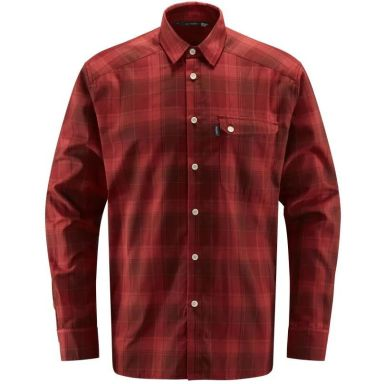 Haglöfs Tarn Skjorta mörkröd/röd, flanell