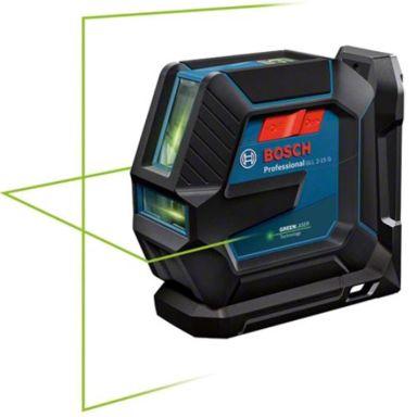 Bosch GLL 2-15/LB10 Linjelaser grön, med batterier