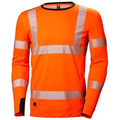 H/H Workwear Lifa Active Undertröja varsel, orange, rundhalsad