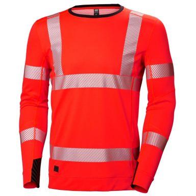 H/H Workwear Lifa Active Undertröja varsel, röd, rundhalsad