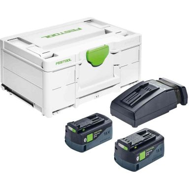 Festool SYS3 ENG 18V 2x5,2/TCL6 Laddpaket i systainer