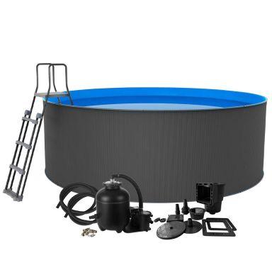 Swim & Fun Santorini XL Poolpaket Ø4,6 x 1,2 m, 17 600 L
