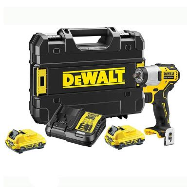 Dewalt DCF902D2K-QW Mutterdragare med batterier, laddare och