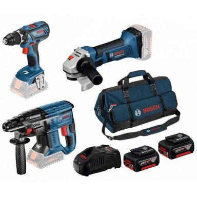 Bosch 18V 3 TOOL KIT Verktøypakke 3 stk. verktøy, med batteri og lader