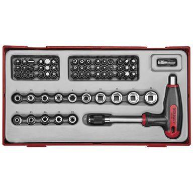 Teng Tools TTTHQ62 Bitsmejselsats 62 delar