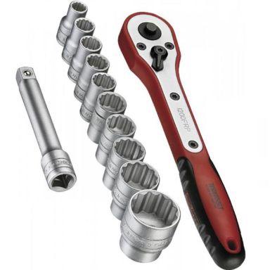 """Teng Tools M1212N1 Hylsnyckelsats 1/2"""", 12 delar"""