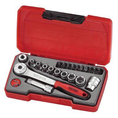 """Teng Tools T1422 Hylsnyckelsats 1/4"""", 22 delar"""