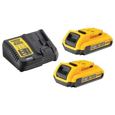 Dewalt DCB115D2 Laddpaket 2 st 2,0 Ah batterier och laddare