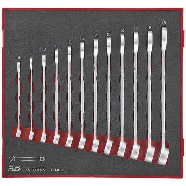 Teng Tools TED8012 U-ringnyckelsats 12 delar, 8-19 mm